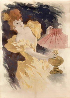 Jules Cheret - Saxoleine (Advertisement for lamp oil), France 1890's