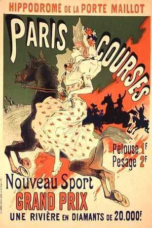 Jules Cheret - Reproduction of a poster advertising 'Paris Courses', at the Hippodrome de la Porte Maillot, Paris, 1890