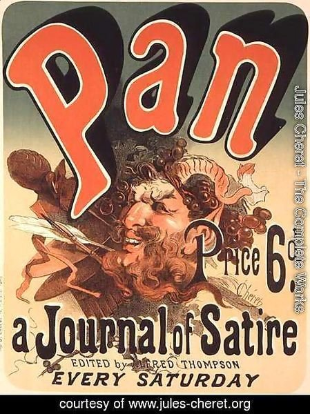 Reproduction of a poster advertising 'Pan', a journal of satire