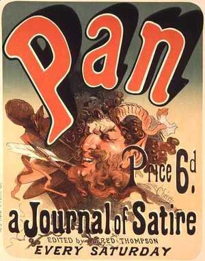 Jules Cheret - Reproduction of a poster advertising 'Pan', a journal of satire