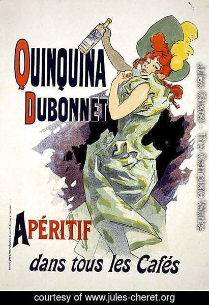 Reproduction of a poster advertising 'Quinquina Dubonnet', 1895