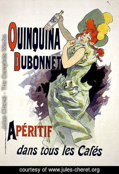 Jules Cheret - Reproduction of a poster advertising 'Quinquina Dubonnet', 1895