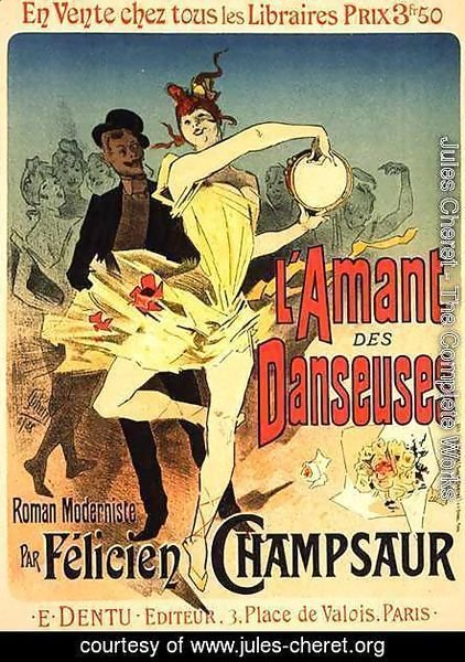 Jules Cheret - Reproduction of a poster advertising 'The Lover of Dancers', 1888
