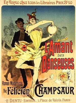 Reproduction of a poster advertising 'The Lover of Dancers', 1888