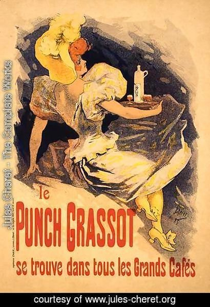 Reproduction of a poster advertising 'Punch Grassot', 1895