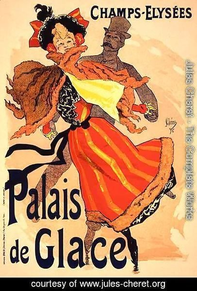 Jules Cheret - Reproduction of a poster advertising the 'Palais de Glace', Champs Elysees, Paris, 1896