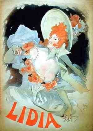 Jules Cheret - Reproduction of a poster advertising 'Lidia', at the Alcazar d'Ete, 1895