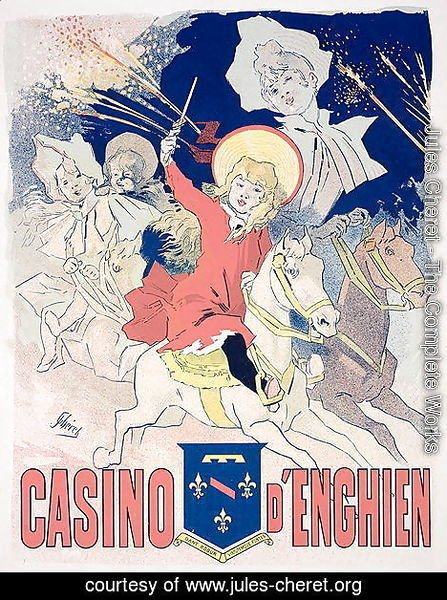 Reproduction of a poster advertising the 'Casino d'Enghien', 1890