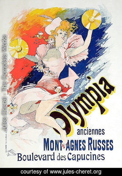 Poster advertising 'Olympia', Boulevard des Capucines, 1892