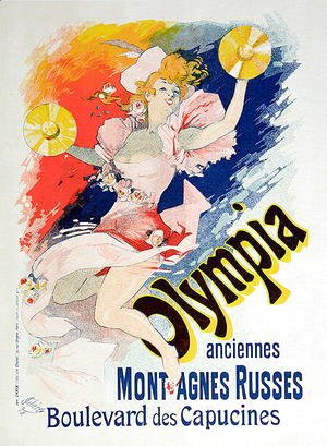 Jules Cheret - Poster advertising 'Olympia', Boulevard des Capucines, 1892