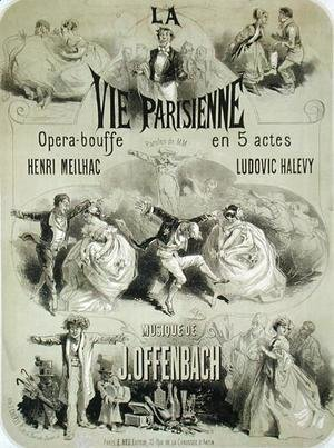 Poster advertising 'La Vie Parisienne', an operetta by Jacques Offenbach (1819-90) 1886