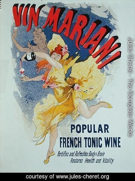 Poster advertising 'Mariani Wine', a popular French tonic wine, 1894