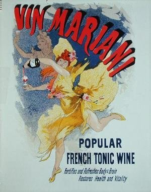 Jules Cheret - Poster advertising 'Mariani Wine', a popular French tonic wine, 1894