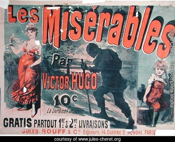 Poster advertising the publication of 'Les Miserables' by Victor Hugo (1802-85) 1886