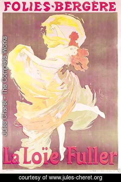 Poster advertising Loie Fuller (1862-1928) at the Folies Bergeres, 1897