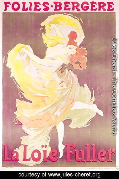 Jules Cheret - Poster advertising Loie Fuller (1862-1928) at the Folies Bergeres, 1897