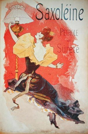 Jules Cheret - Poster advertising 'Saxoleine', safety lamp oil