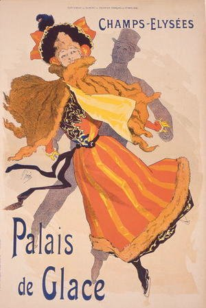 Jules Cheret - Poster advertising the Palais de Glace, Champs Elysees