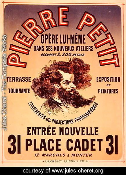Poster advertising Pierre Petit's New Studios, 1876