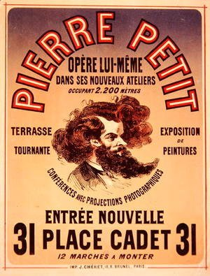 Jules Cheret - Poster advertising Pierre Petit's New Studios, 1876