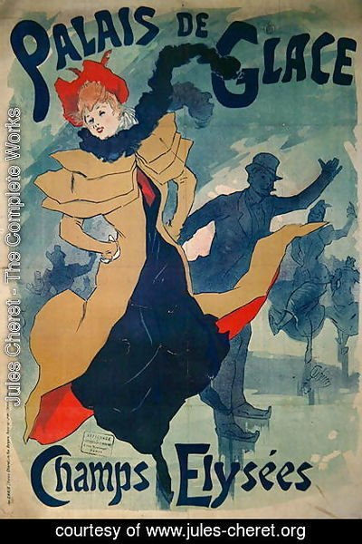 Jules Cheret - Poster advertising the Palais de Glace on the Champs Elysees