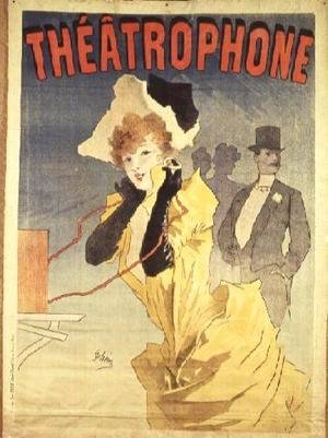 Jules Cheret - Poster Advertising the 'Theatrophone'
