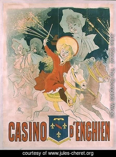 Jules Cheret - Poster advertising the Casino d'Enghien, 1898