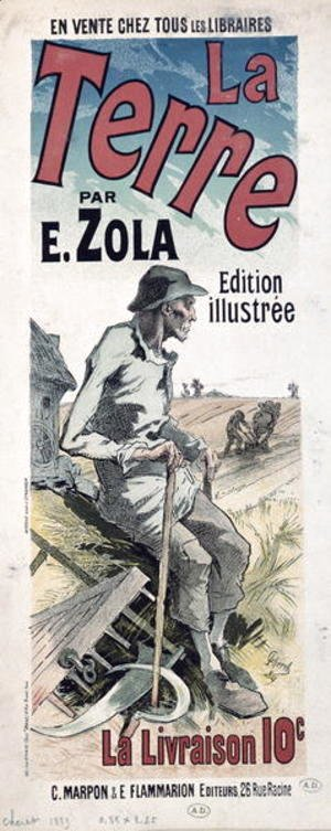 Poster advertising 'La Terre' by Emile Zola, 1889
