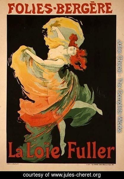 Reproduction of a Poster Advertising 'Loie Fuller' at the Folies-Bergere, 1893