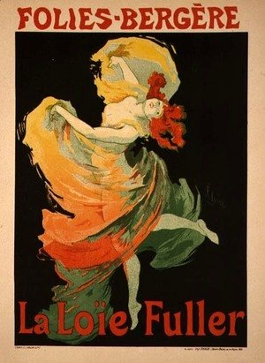 Jules Cheret - Reproduction of a Poster Advertising 'Loie Fuller' at the Folies-Bergere, 1893