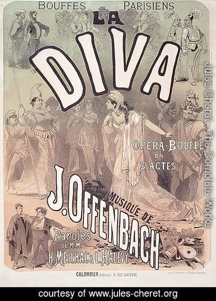 Poster advertising 'La Diva', opera bouffe with music