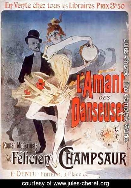 Advertisement for 'The Lover of Dancers', a Modernist Novel by Felicien Champsaur, 1888