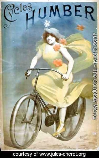 Jules Cheret - Advertising for 'Humber Cycles'