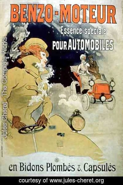 Jules Cheret - Poster advertising 'Benzo-Moteur' Motor Oil Especially for Automobiles, 1901