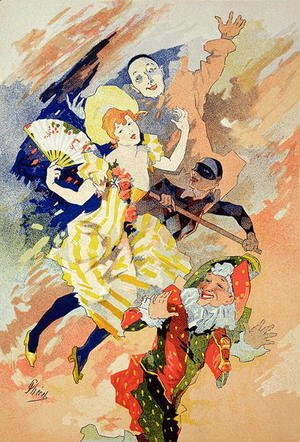 Jules Cheret - Reproduction of a poster for a pantomime, 1891
