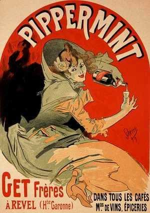 Jules Cheret - Reproduction of a poster advertising 'Pippermint', 1899